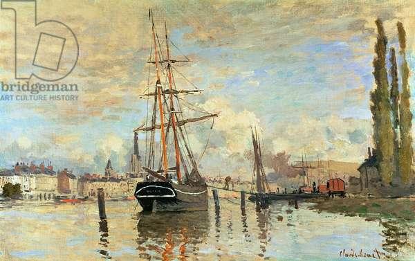 The Seine at Rouen, 1872 (oil on canvas)