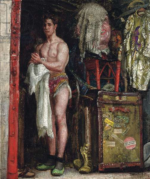 The Men's Dressing Wagon (oil on canvas)