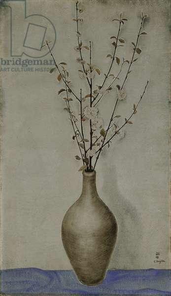 Cherry Blossom Branches in a Stoneware Vase; Branches de Cerisier en Fleurs dans un Vase en Gres, c.1918 (oil on canvas)