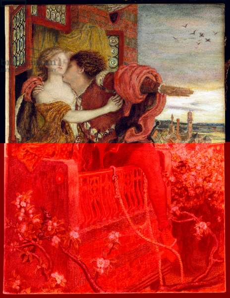 Romeo and Juliet, 1868-71 (w/c & bodycolour with gum arabic)