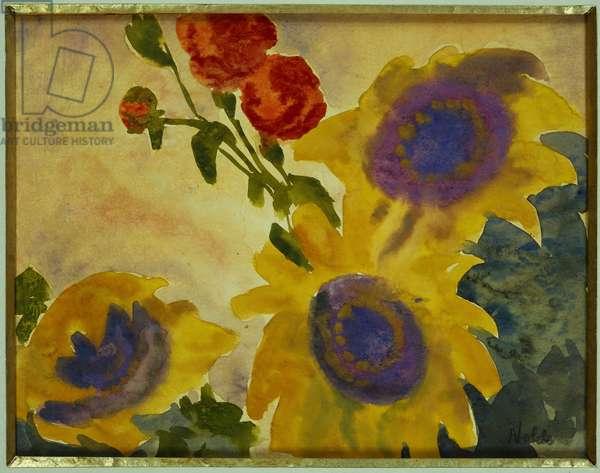 Sunflowers (w/c on paper)