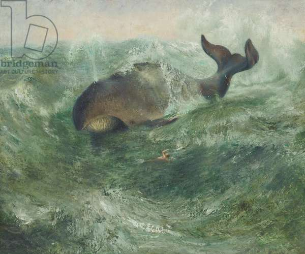Jonah and the Whale, c.1980 (oil on canvas)