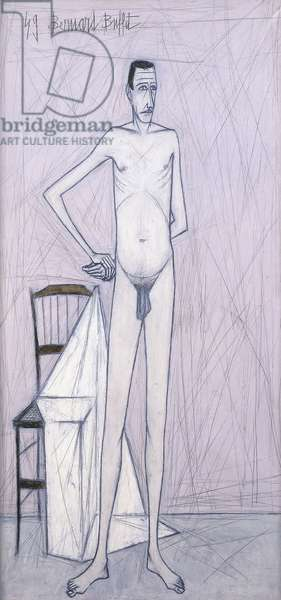Standing Nude Man, 1949 (oil and pencil on canvas)