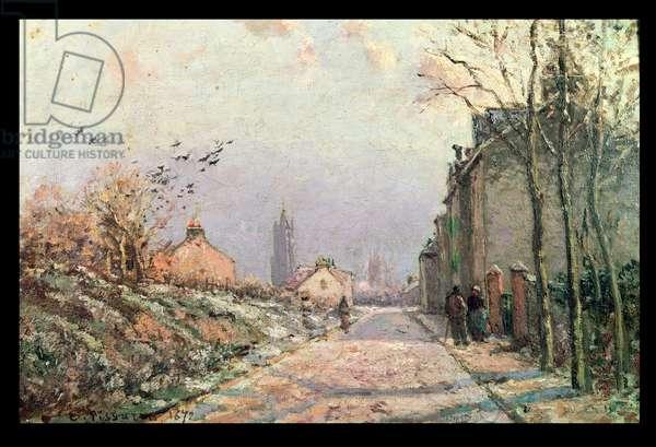 The Road, Effect of Winter; La Route, Effet d'Hiver, 1872 (oil on canvas)