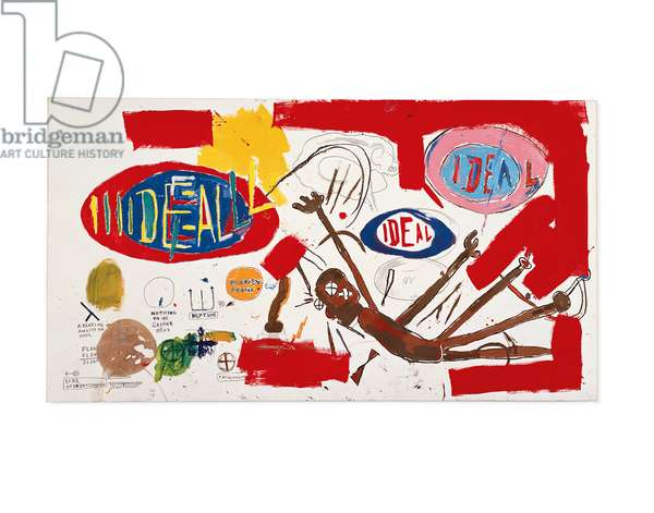 Victor 25448, 1987 (acrylic, oilstick & graphite on paper laid down on canvas)
