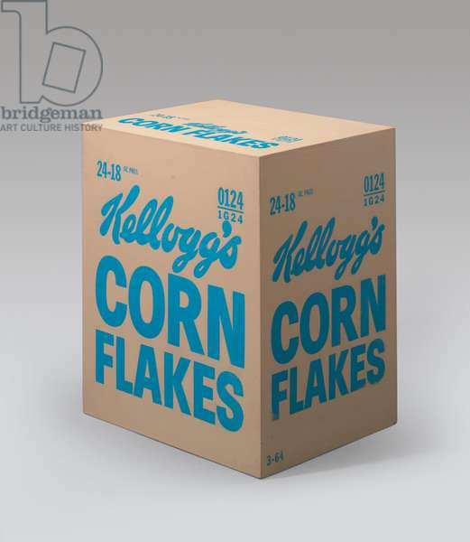 Kellogg's Corn Flakes Box, 1964 (silkscreen ink & house paint on plywood)