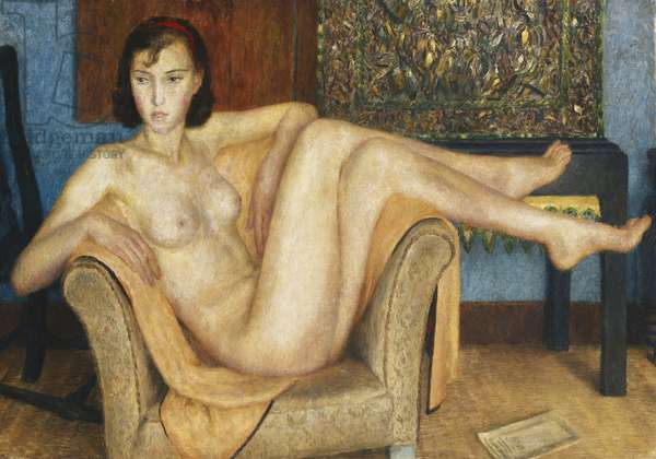 Girl in a Chair, c.1934 (oil on canvas)