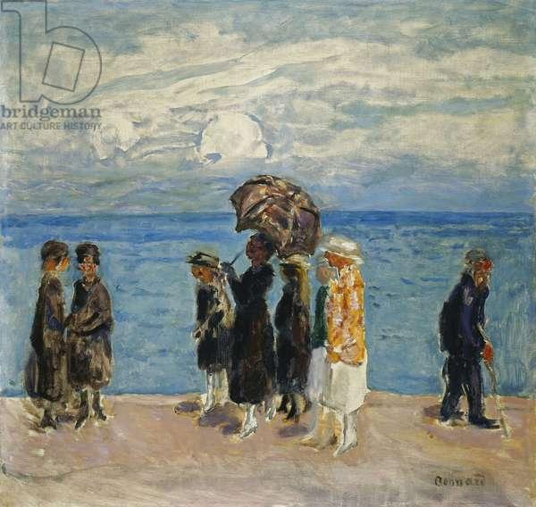 Promenaders at the Seaside; Promeneurs au Bord de la Mer, 1916 (oil on canvas)