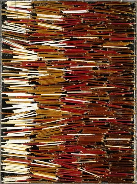 Accumulation, 1981 (accumulation of coloured pencils in plexiglas)