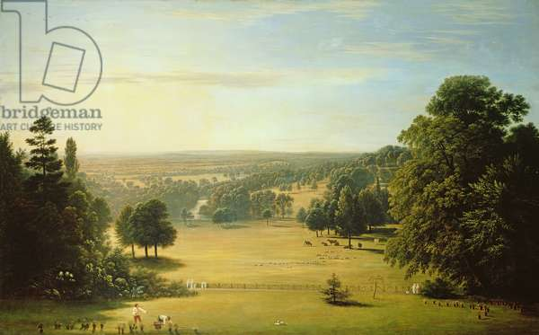 View from Lord Northwick's Villa at Harrow on the Hill (oil on canvas)