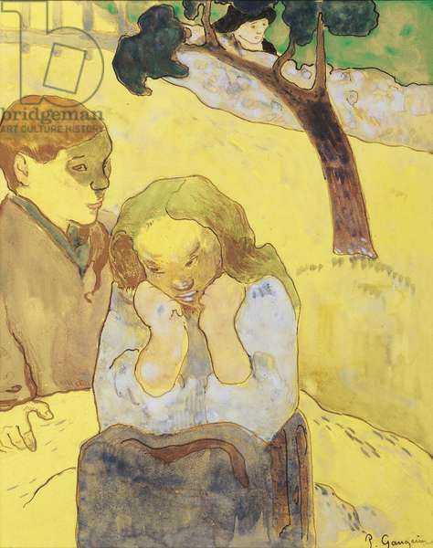 Human Misery; Les miseres humaines, 1889 (zincograph, watercolour, wove paper)