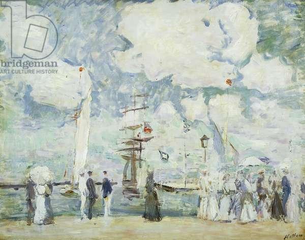 Harbour Entrance at Deauville; Entree du Bassin de Deauville, (oil on canvas)
