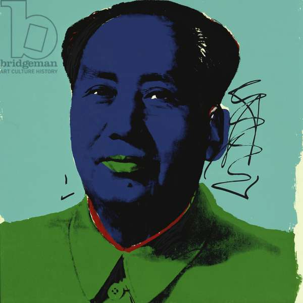 Mao Tse-Tung, 1972 (colour screenprint)