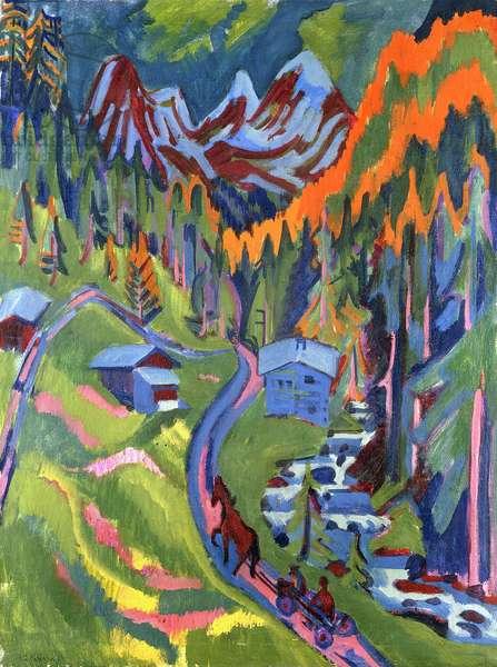 Sertig Path in Summer; Sertigweg im Sommer, 1923 (oil on canvas)