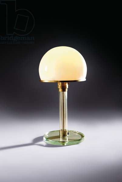 Model 'ME1' table lamp, c.1924 (glass & nickelled metal)