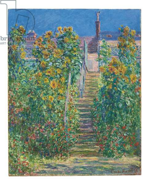 L'Escalier à Vétheuil, 1881 (oil on canvas)