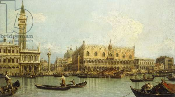The Molo, Venice, from the Bacino di S. Marco,  (oil on canvas)