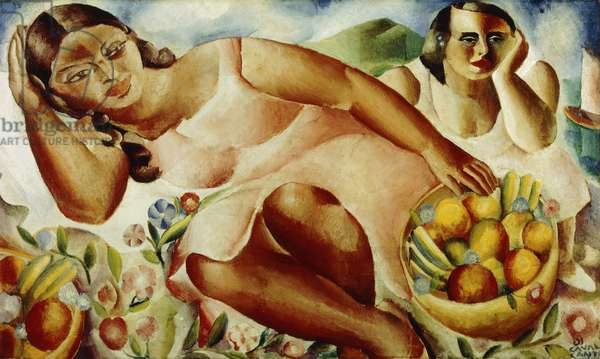 Women with Fruits, 1932 (oi lon canvas)