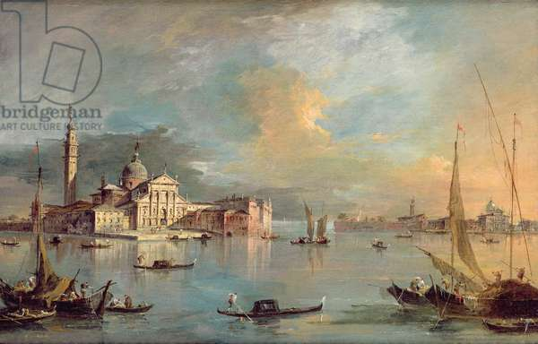 San Giorgio Maggiore, Venice, with the Giudecca and Zitelle (oil on canvas)