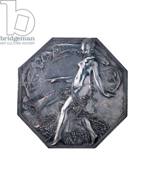 Plaque (silvered bronze)