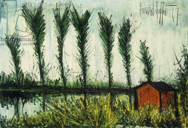The Poplars; Les Peupliers, 1968 (oil on canvas)
