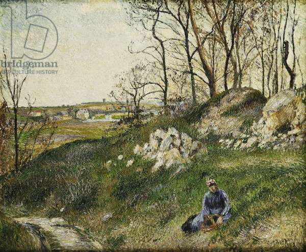 The Cabbage Pickers, Pontoise; Les Carrieres du Chou, Pontoise, 1882 (oil on canvas)