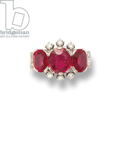 Ring given to Princess Margaret by HM The Queen (rubies, diamonds & gold)