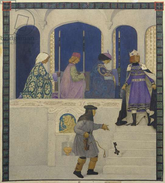 Now blessed be the great Apollo, one of twelve illustrations for 'A Winter's Tale' by Shakespeare, 1922 (tempera on board)