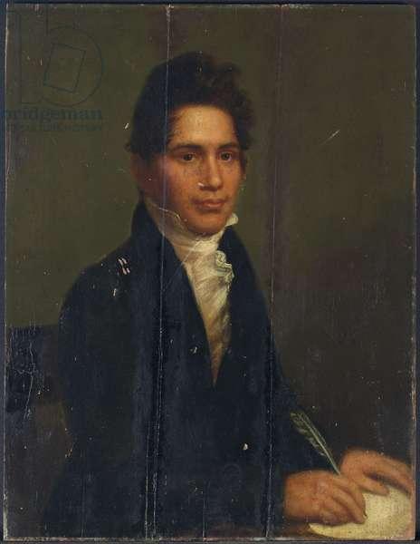 John Ridge, Cherokee Chief, 1825 (oil on panel)