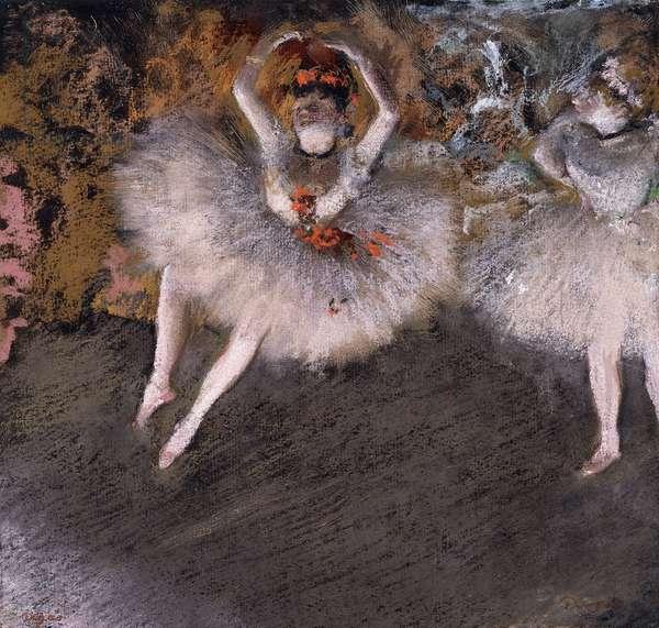 Le Pas Battu, c.1879 (pastel over monotype on paper)