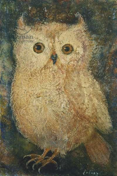 Owl; Le Hibou, (oil on board)