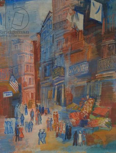 Le Quartier Notre-Dame au Havre, c. 1928-1930 (oil on canvas)