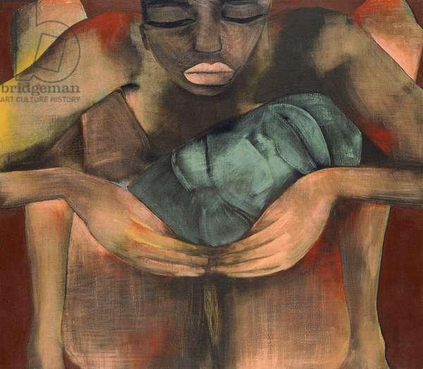 Woman, 1991 (oil on linen)