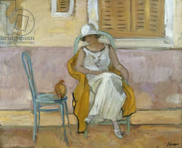 Woman in a White Dress; La Femme en Robe Blanche, c.1923 (oil on canvas)