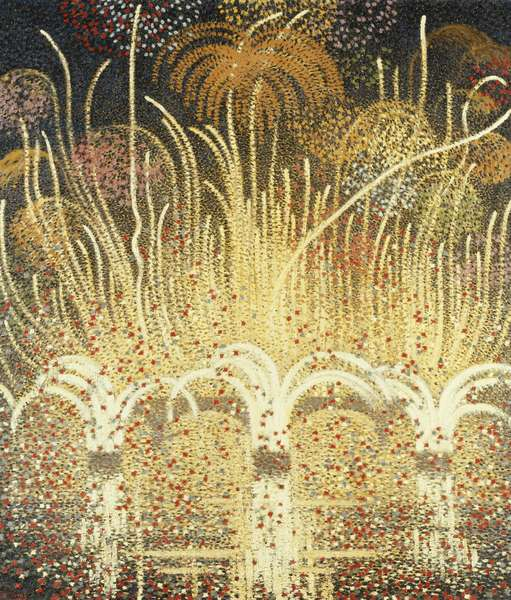 Fireworks for H.M. The Queen's visit to Paris, April 1957, 1957 (oil on canvas)