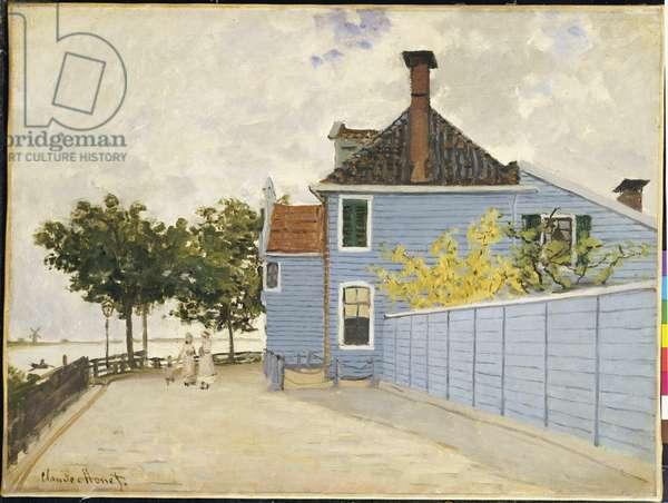 The Blue House, Zaandam (oil on canvas)