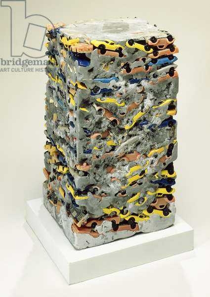 Long Term Parking,  (toy cars and plaster)