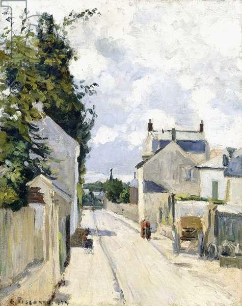 Hermitage Street, Pontoise, 1874 (oil on canvas)