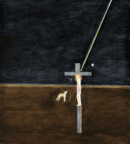 Crucifixion, 1995 (oil on canvas)