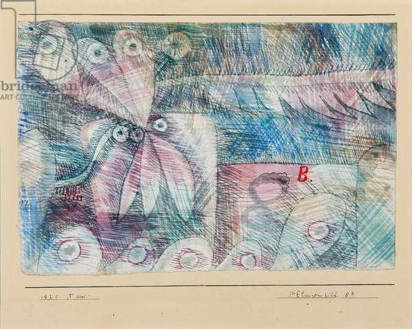 Pflanzen Bild 8.b, 1925 (w/c & chalk on paper)