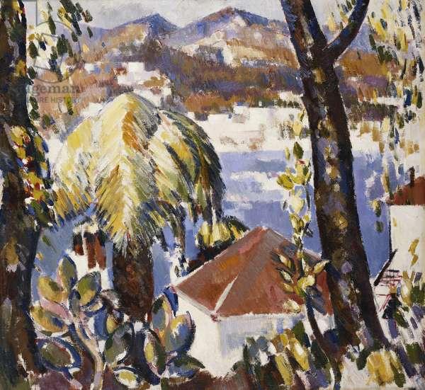 Towards Juan From Cap d'Antibes, c. 1925 (oil on canvas)
