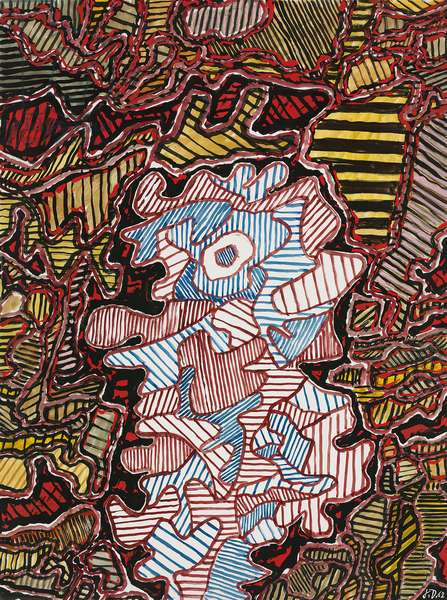 Personnage (EG. 1), 1962 (gouache and paper collage on paper)