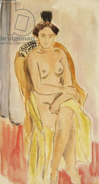 Seated Female Nude; Femme Nue Assise, c.1919-1921 (oil on canvas)