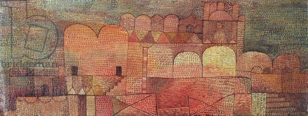 Cathedral, 1932 (no 27) (oil on gauze on cardboard)