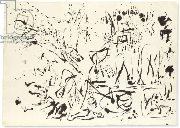 Untitled, c.1951 (ink on rice paper mounted on paper)