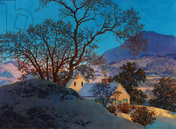 Early Morning, First Snow (oil on board)
