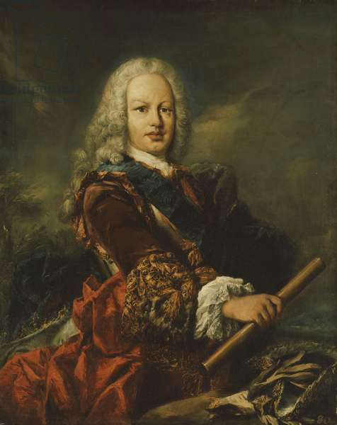 Portrait of King Ferdinand VI of Spain (1713-1759), (oil on canvas laid on panel)