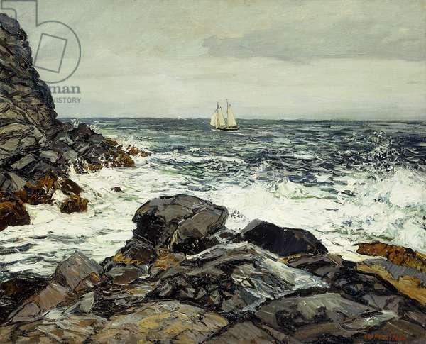 Maine Coast, off Whitehead,  (oil on canvas)