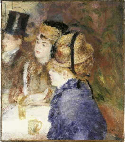 At the Cafe (The Drinkers), 1877 (oil on canvas)