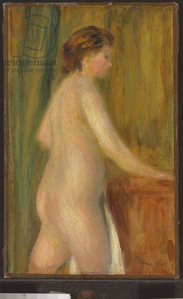 Nude with bath towel, c.1900 (oil on canvas)